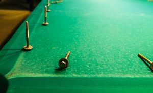 removing slate of the pool table