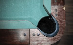 remove pocket and rails of a pool table